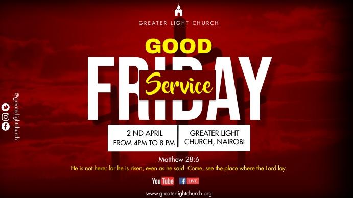 Good Friday Service Digital na Display (16:9) template