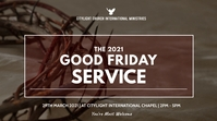 good friday service flyer Digitale display (16:9) template