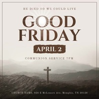 Good Friday Service Square Video Vierkant (1:1) template