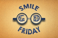 Good Friday Smile, it's friday Poster template