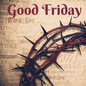 good friday template