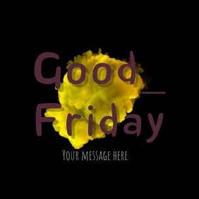 good friday video template