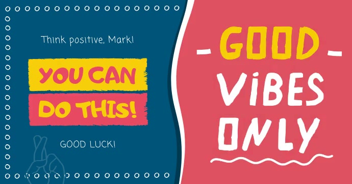 Good luck and Good Vibes Facebook Post Video template