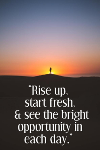 Good Morning Inspirational Quote Template Poster