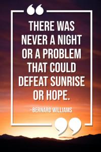 Good Morning Inspirational Quote Template Plakkaat