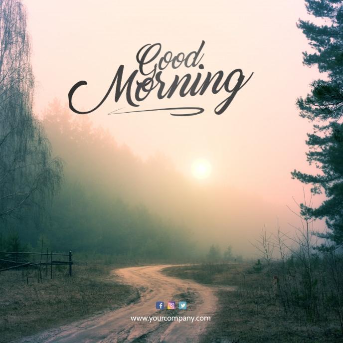 Good Morning Instagram Post Album Cover template