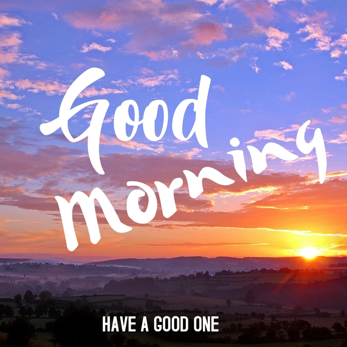 Good Morning Post Card Template