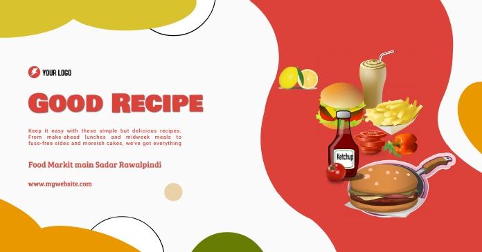 Good Recipe Restaurant Facebook 共享图片 template