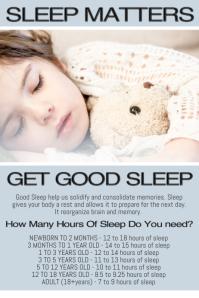 good sleep infographic poster template