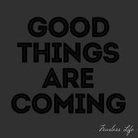 Good Things Are Coming square video animation Instagram-opslag template
