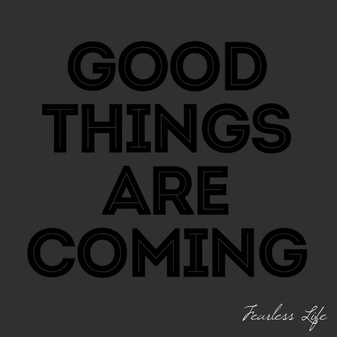 Good Things Are Coming square video animation template