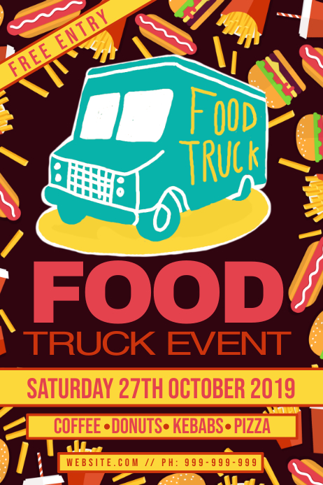 Good Truck Event Poster Template Postermywall