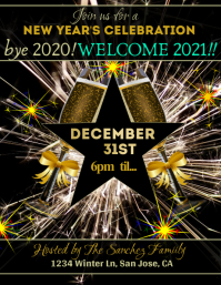 Goodbye 2020 Party Flyer template