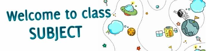 Google classroom header 1 template