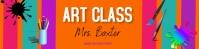 google classroom header/virtual/online/blog Banner 2' × 8' template
