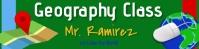 google classroom header/virtual/online/blog Spanduk 2' × 8' template