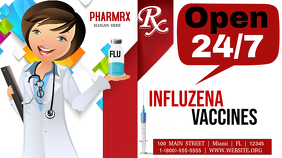 Google Flu Shot Google+ Cover na Larawan template