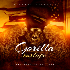Gorilla Mixtape Rap Hip-Hop CD Cover Tempalte