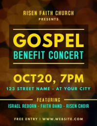 Gospel Benefit Concert Flyer Template