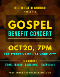 Gospel Benefit Concert Flyer Template