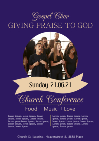 Gospel Chor Church Concert Flyer Pastors