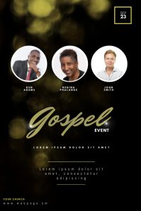 Gospel church concert flyer template