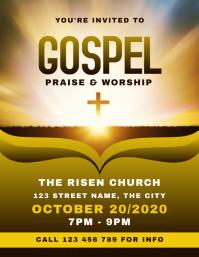 Gospel Church Flyer template