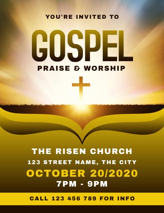Gospel Church Flyer