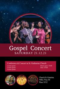 Gospel Concert Church Conference Invitation Poster template