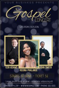 gospel concert church event flyer template