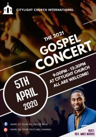 GOSPEL CONCERT church flyer A3 template