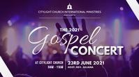 GOSPEL CONCERT church flyer Display digitale (16:9) template