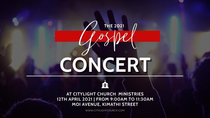 gospel concert church flyer Ecrã digital (16:9) template