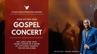 gospel concert church flyer Digital Display (16:9) template