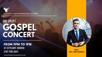 GOSPEL CONCERT church flyer Digitale display (16:9) template