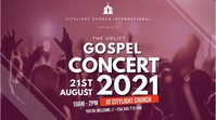 gospel concert church flyer 数字显示屏 (16:9) template