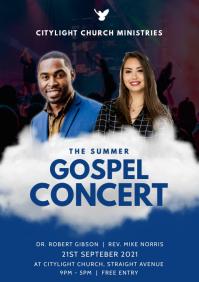 gospel concert A3 template