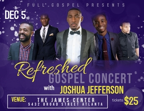 Gospel concert Flyer (US Letter) template