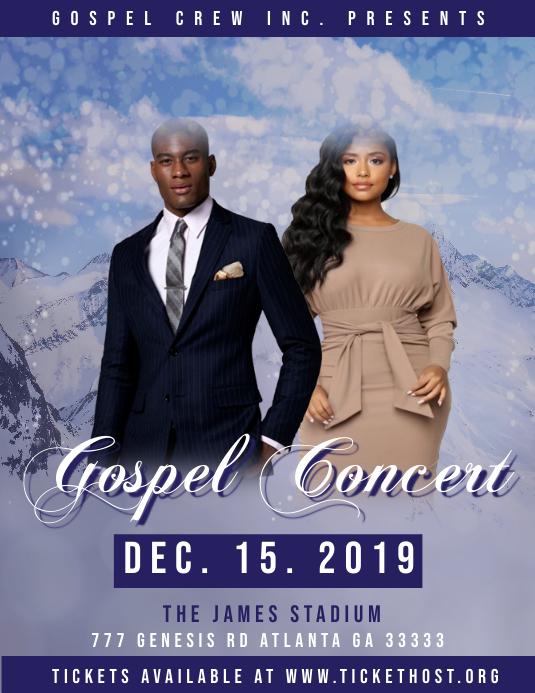Modèle Concert Gospel | PosterMyWall