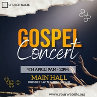 gospel concert flyer Publicación de Instagram template