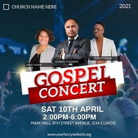 gospel concert flyer Instagram 帖子 template