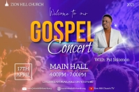 gospel concert flyer Affiche template