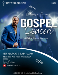 gospel concert flyer Volante (Carta US) template