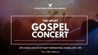gospel concert flyer Tampilan Digital (16:9) template