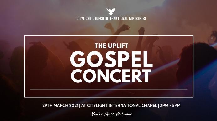 gospel concert flyer Pantalla Digital (16:9) template