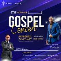 gospel concert flyer Pos Instagram template