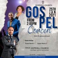 gospel concert flyer Publicação no Instagram template