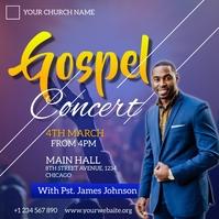 gospel concert flyer โพสต์บน Instagram template