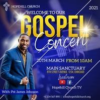 gospel concert flyer Message Instagram template