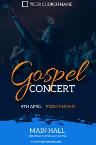 gospel concert flyer Plakat template